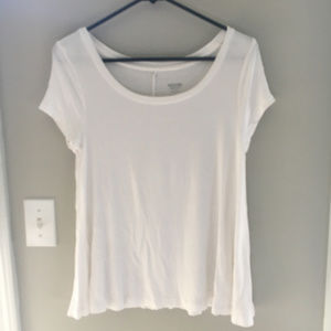 Mossimo White Relaxed Fit Tee
